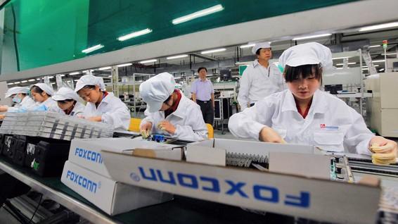 Production d'un nouvel iPhone chez Foxconn